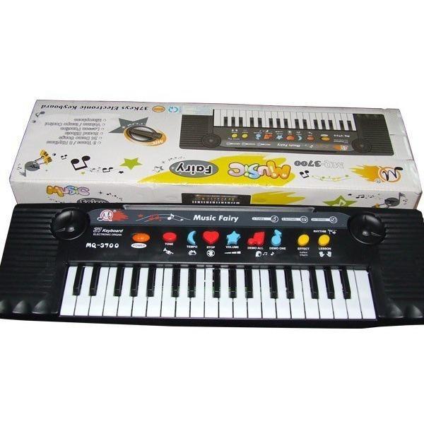 Đồ chơi âm nhạc đàn organ có mic cho bé tập hát (Đen)