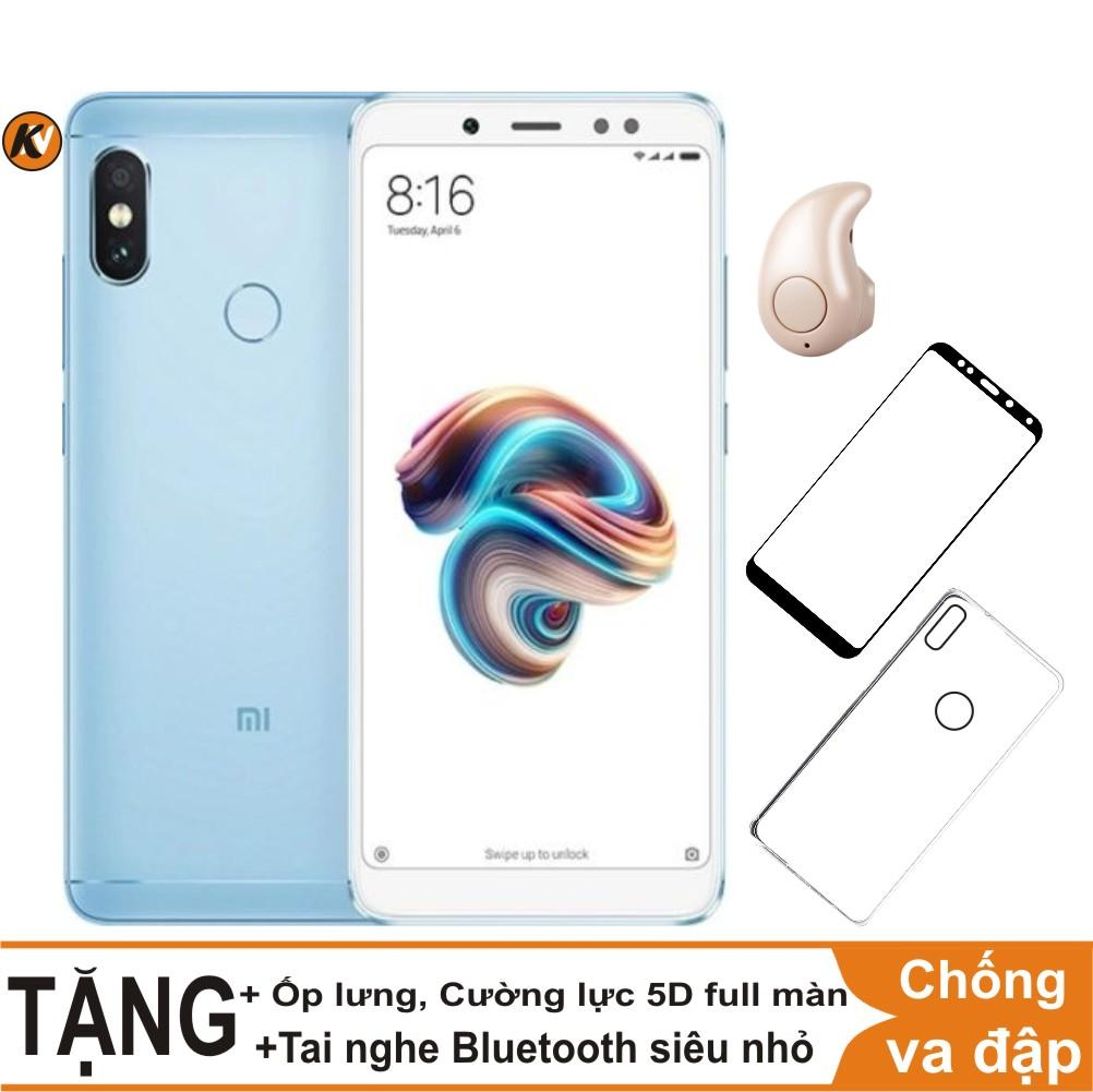 Mua Xiaomi Redmi Note 5 Pro 64GB Ram 4GB Khang Nhung (Xanh) + Ốp lưng + Cường lực 5D full màn (Trắng) + Tai nghe Bluetooth siêu nhỏ ở đâu tốt?