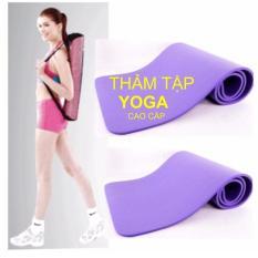 Thảm tập Yoga siêu bền loại dày 10mm TPE (xanh) +Tăng Túi Đựng Kích Thước 1m80 x 61cm x 10mm