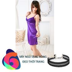 Váy ngủ Lanh VN126 + TẶNG VÒNG THỜI TRANG, Thời trang Azado