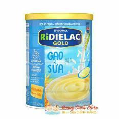 [ĐỦ VỊ MẶN – NGỌT] Bột ăn dặm RiDIELAC Gạo Sữa Vinamilk 350g – Hộp Thiếc