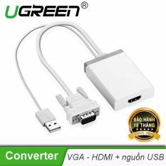 Cáp chuyển đổi VGA sang HDMI có hỗ trợ âm thanh và hỗ trợ nguồn qua cổng USB 2.0 UGREEN MM106 40235 – Hãng phân phối chính thức