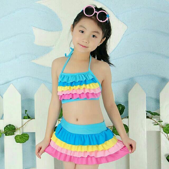 Đồ bơi 2 mảnh cho bé 3-7 tuổi. 8016-1# Tặng kèm kính bơi(màu sắc như hình)