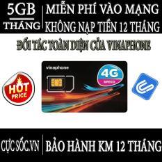 SIM Vinaphone 3G 4G Vina12T Tặng 5GB/Tháng Trọn Gói 1 Năm