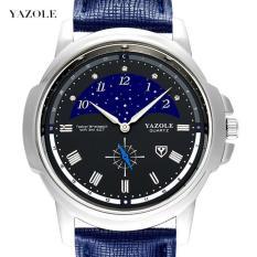 Đồng hồ nam YAZOLE 407 mẫu mới 2018 dây da PU