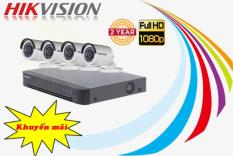 Trọn bộ 4 camera 2MP HIKVISION DS-2CE16D0T-IR và DS-7204HQHI-K1