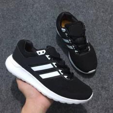 Giày Thể Thao Sneaker Nam Nữ ( Đen Phối Trắng )
