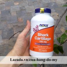 Thực phẩm viên sụn vi cá mập Now Shark Cartilage 750mg 300 Viên – hỗ trợ các bệnh về xương khớp