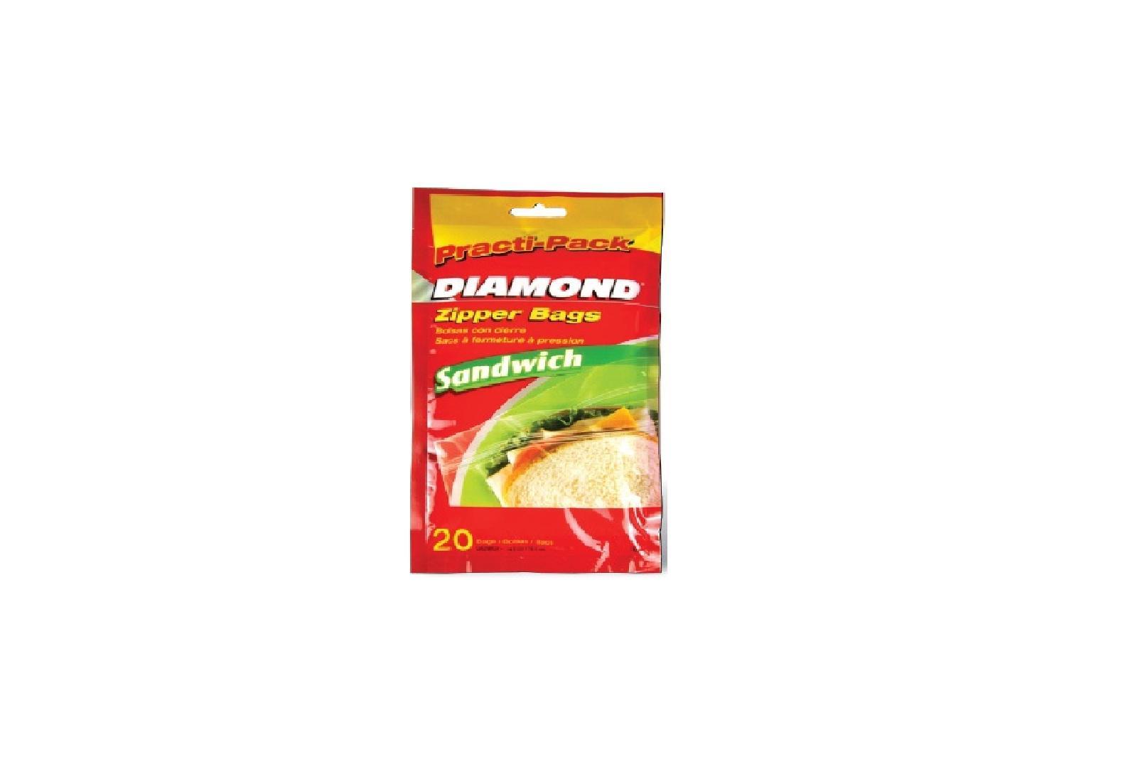Túi đựng thực phẩm Diamond size sandwich – 20 túi