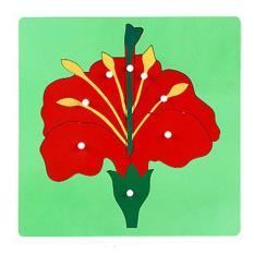 Bảng ghép tranh hình bông hoa giáo cụ montessori đồ chơi giáo dục
