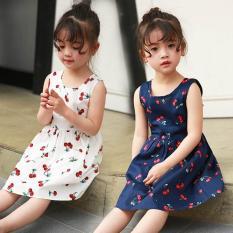 Váy họa tiết quả cherry cực yêu dành cho các công chúa nhỏ từ 10 đến 35 kg
