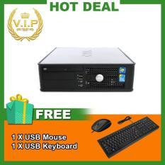 Máy tính văn phòng Dell Optiplex 755 SFF (CPU Core 2 Duo E6750, Ram 4GB, HDD 320GB) Chất Lượng Tốt + Bộ Quà Tặng – Hàng Nhập Khẩu