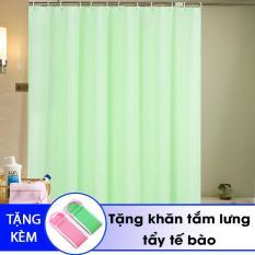 Rèm treo nhà tắm chống thấm trơn + Tặng khăn tắm lưng tẩy tế bào