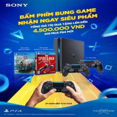 Combo Sony PS4 Slim 2218A [Bảo Hành 1 Năm] + 2 Tay Cầm + 2 Games Hot 2018