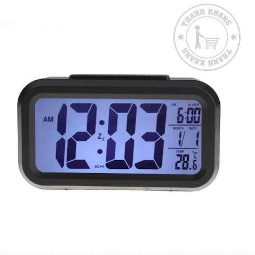 Ở đâu bán Đồng hồ báo thức kỹ thuật số đèn LED cảm biến đa chức năng (Đen) 010000001