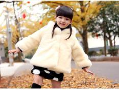 Áo khoác lông cho bé gái từ 12 tới 45 kg