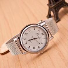 Đồng hồ Unisex dây thép nhuyễn cao cấp Genava (Dây Thép Nhuyễn, Mặt Trắng)