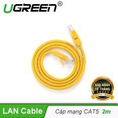 Cáp mạng đúc sẵn 2 đầu Cat 5 dài 2M Ugreen NW103 11231 – Hãng phân phối chính thức