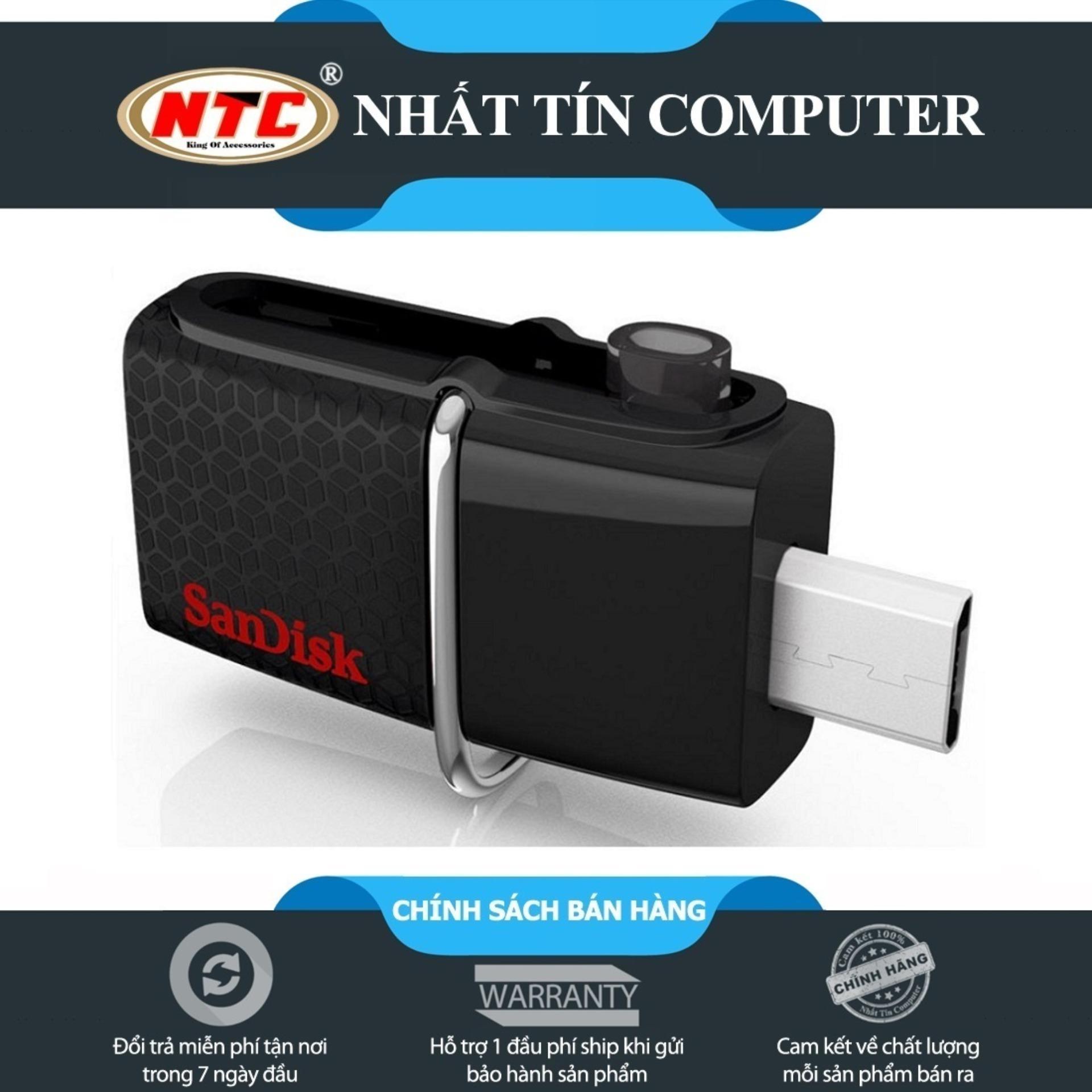 USB OTG Sandisk 3.0 Ultra Dual 64GB 150MB/s (Đen)