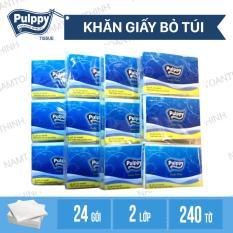 Combo 4 Lốc khăn giấy bỏ túi Pulppy Regular lốc 6 Gói