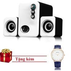 Loa Vi Tính PKCB-3N chuẩn HIFI speakers Trắng Tặng Đồng hồ Cluse Xanh Lam PF3