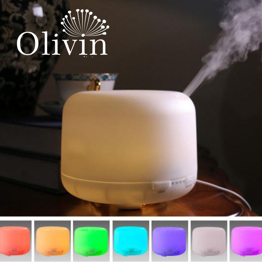 Máy phun sương khuếch tán tinh dầu đèn đổi màu Olivin LA757 + Tặng 10ml tinh dầu sả chanh Olivin