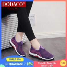 [Ship Ko Tăng Khi Mua 1-3 SP] – Giày lười nữ DODACO DDC2025 (Đen Đỏ Tím Xám)