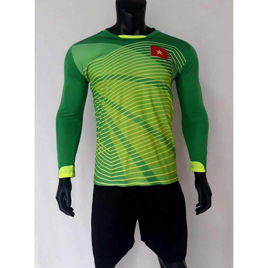 Quần áo thủ môn Việt Nam xanh lá tay dài Bùi Tiến Dũng 2018