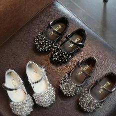 Giày búp bê đính đá cho bé gái