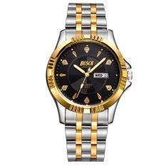 (Cập nhật 2019)Đồng hồ nam thời trang dây thép không gỉ có lịch ngày Bosck 1009