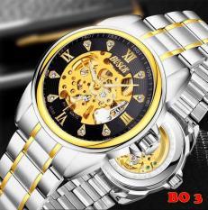 Đồng hồ cơ nam BOSCK BO3 dây thép không gỉ