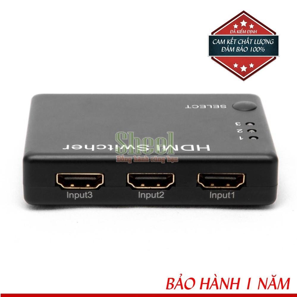 Nơi mua HUB 3 HDMI VÀO 1 HDMI CÓ REMOTE Loại tốt