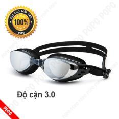 Kính bơi cận 3,0 độ thế hệ mới 610 kiểu dáng thời trang nhỏ gọn chống UV, chống sương mờ POPO Collection