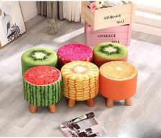Ghế sofa bọc nỉ họa tiết trái cây