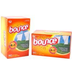 Giấy thơm Bounce- USA- Dùng cho máy sấy- Gói dùng thử 20 miếng
