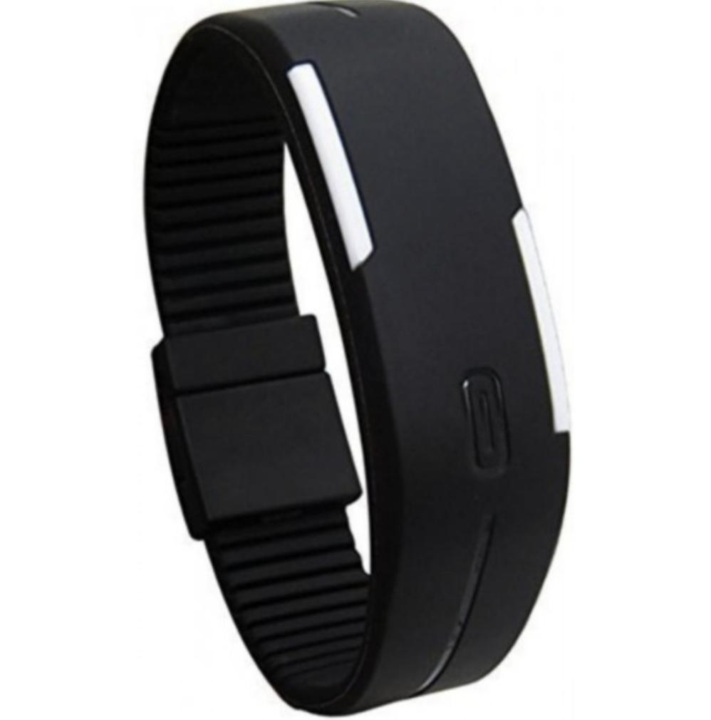 Mua Đồng hồ LED dây nhựa kiêm vòng tay (Đen) ở đâu tốt?