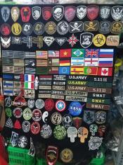 Logo Patch velcro dán xé vải thêu cờ Đức Braxin US army trang trí áo khoác lính, balo lính, đồ lính