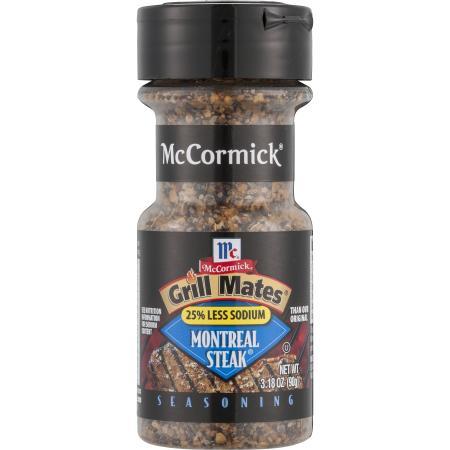 Gia vị Ăn Kiêng Mỹ Montreal steak less sodium 25% ( vị bò nướng sodium dưới 25% )