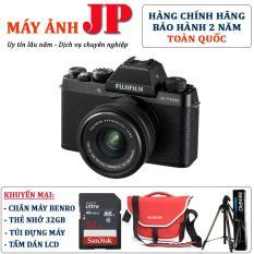 FUJIFILM X-T100 kit 15-45mm F3.5-5.6 OIS (Đen) – Tặng thẻ 32G + túi máy + chân máy Benro