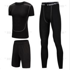 Bộ quần áo thể thao nam 3in1 NGẮN TAY, bộ đồ tập GYM và thi đấu thể thao thoáng khí, siêu nhẹ chất vải cao cấp – BlingBling