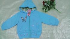 Áo khoác hình thỏ( Xanh-Hồng-Tím) bé gái từ 3 tuổi đến 6 tuổi