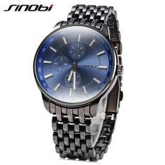 Đồng hồ nam dây thép Sinobi 9268