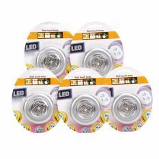 Combo 5 đèn Led dán tường siêu sáng xài pin