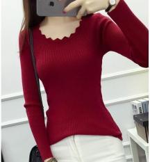 ÁO LEN CỔ XINH L02 (màu đỏ)