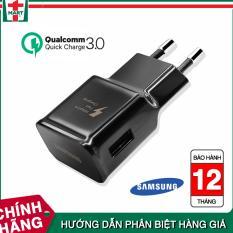 Củ sạc Fast Charge cho Samsung Galaxy S8 / S8 Plus (Đen) – Hỗ trợ sạc nhanh Qualcomm – Hàng Xuất Khẩu Châu Âu