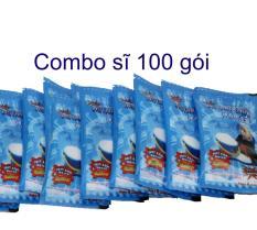 Combo 100 gói tuyết xanh bông bạc (tuyết nhân tạo cloud slime )
