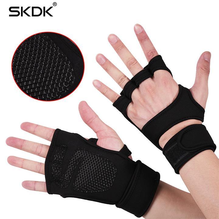 Găng tay tập thể hình hở mu GL003