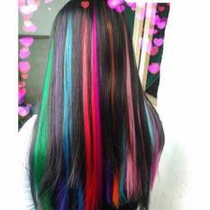 Line tóc giả siêu xinh tép 3d dài 60cm màu xanh lam ngọc