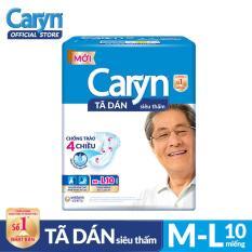 Tã dán Caryn siêu thấm size ML 10 miếng