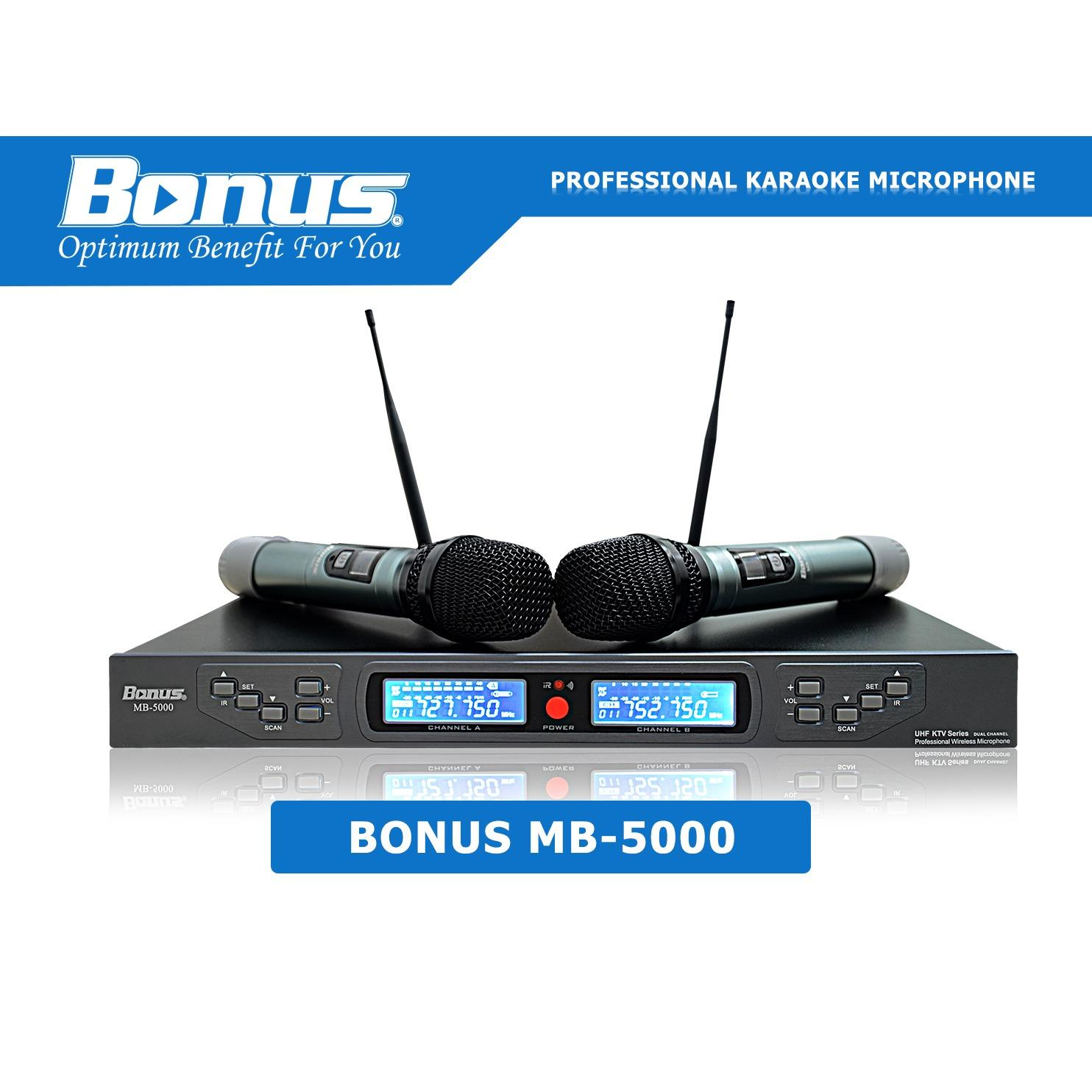Bảng Giá Micro karaoke không dây Bonus Audio MB-5000